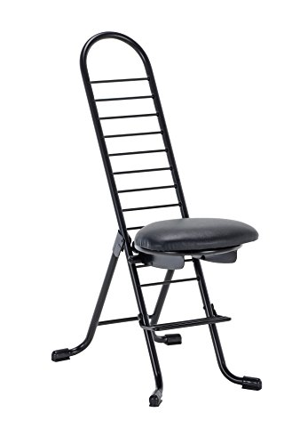 Vestil CPRO-600S Ergonomic Worker Chair - Swivel Seat, 220 lb. Capacity, Seat 14'W x 12'Lx14-1/2'-35-1/2'H, Overall Dimensions 16-3/4'Wx21-1/4'Lx36-5/8'H
