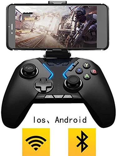 Manette jeu à vibration, Télécommanjeu sans fil, Manette jeu sans fil pour contrôleur jeu, Rechargeable pour manette jeu, Prise en charge du combiné pour manette jeu prenant en charge Ios7 Android4