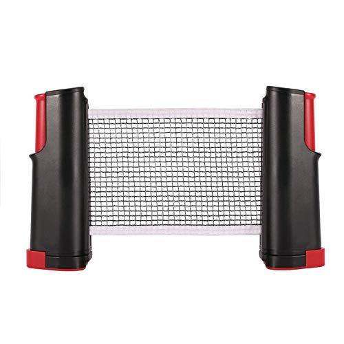 Chimaera red de ping pong, extensible portátil y extraíble red de ping pong, replacement ping pong retráctil rack, abrazaderas para soportes, longitud ajustable 170 (Max) x 14 cm (Negro)