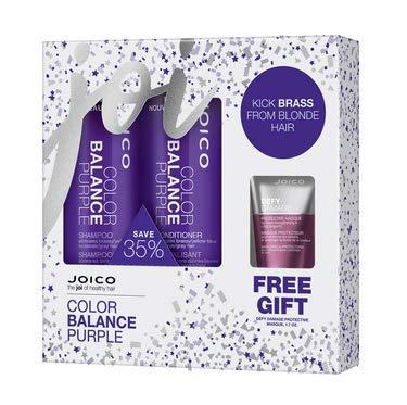 Joico Color Balance Purple Shampoo, Conditioner & Defy Damage Masque Kit