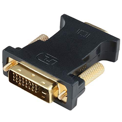 HYZUO Adaptador DVI a VGA Activo DVI-D Dual Link 24+1 Macho a...