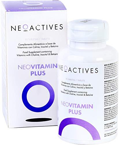 NeoVitamin Plus | Suplemento con cantidades equilibradas y altamente biodisponibles | Vitamina A Vitamina D3 Vitamina E Vitamina K2 Vitamina C Vitaminas B Ácido fólico, biotina, colina | 90 Capsulas