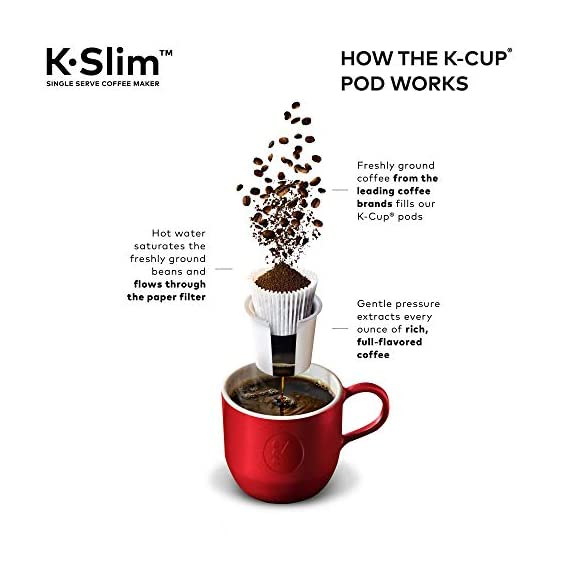 "Keurig k-slim single serve coffee maker with coffee lovers' variety pack, 40 count k-cup pods 8 fits anywhere: less than 5"" wide, fits neatly on your countertop. Multiple cup water reservoir: removable 46 oz. Reservoir lets you brew up to 4 cups before refilling. 8oz cup size 3 cup sizes: brew an 8, 10, or 12 oz. Cup at the push of a button."