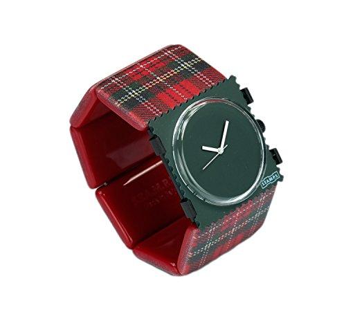 S.T.A.M.P.S. Stamps Uhr KOMPLETT - Zifferblatt Pure Dark Green mit Belta Tartan