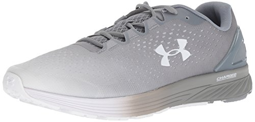 Under Armour Men's Charged Bandit 4 Running Shoe, Steel (107)/White, 8