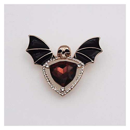 Xx101 Brooch Halloween Skull Bat Corsage Pin Pins Brooches Backpack Clothes Lapel Pin Fun Badge Jewelry Gift (Metal color : Gold)