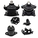 Engine Motor Mount and Trans Mount Kit Set of 6 For 2003/2004/2005/2006/2007 Honda Accord 3.0L A4527HY/A4526HY/A4517/A4524/A4525/A4544