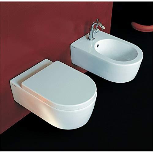FLAMINIA Vaso sospeso Bianco con Sistema Goclean 5051/WCG Link