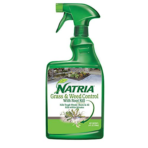 Natria 100532521 Grass & Weed Control with Root Kill Herbicide Weed Killer, Use, 24 Oz, Ready-To-Spray