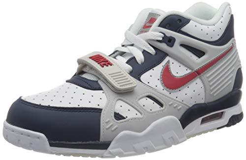 Nike Herren AIR Trainer 3 Basketballschuh, Midnight Navy University Red White, 40 EU
