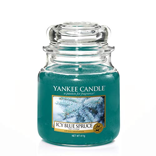 Yankee candle Jar Icy Blue Spruce Candela di Natale 5038581051178, Multicolore, Unica