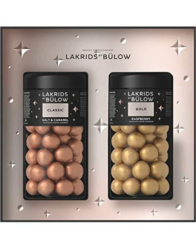 LAKRIDS BY BÜLOW - WINTER - Black Box - 590g - Classic (Salt & Caramel) + Gold (Raspberry) - Dänische Gourmet Lakritze in hochwertiger Geschenkbox