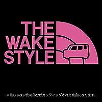 ウェイク ステッカー THE WAKE STYLE【カッティングシート】パロディ シール(12色から選べます) (ピンク)