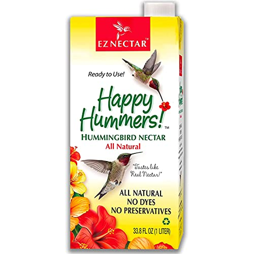"""EZNectar - The Only Ready-to-Use Hummingbird Nectar """"Exactly Like Flower Nectar."""" Patented"""