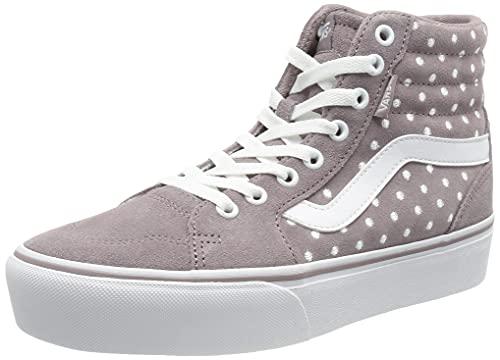 Vans Filmore Hi, Zapatillas Mujer, Suede Dots Purple Dove White, 36.5 EU