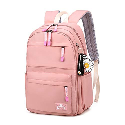 MODRYER Mochila para niñas Puerta de refrigerador Puerta Escuela Primaria Teens Impermeable Bookbag Junior Primaria Estudiante Daypack Regalo,Pink-44 * 30 * 18cm