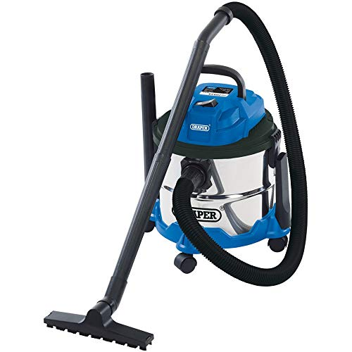 Draper 20514 Wet and Dry 1250W Vacuum Cleaner with 15 Litre Stainless Steel...