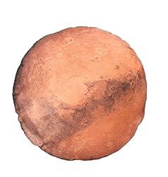 COSMIC TREE 惑星 クッション 太陽系 火星 丸型 抱き枕 枕 宇宙 コスモ 本物衛生画像 高品質プリント (30cm, 火星)