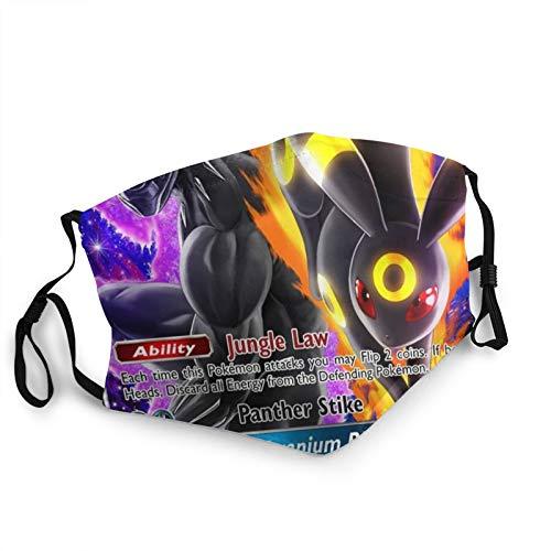 Black Panther & Umbreon Gx Pokemon Card Face Masks Waschbar Wiederverwendbare Sicherheitsmasken Schutz vor Staub Pollen Haustier Schuppen Andere in der Luft