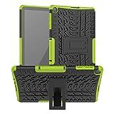 XITODA Funda para Huawei MatePad T10/T10S,TPU Silicone + PC Protección con Stand Carcasa para Huawei MatePad T10 AGR-L09 AGR-W09 9.7''/MatePad T10S AGS3-L09 AGS3-W09 10.1''Tablet,Verde