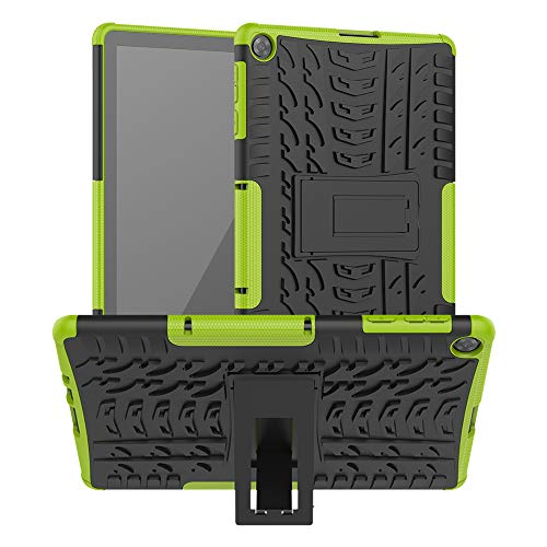 Goyi Funda Huawei MatePad T10s 10.1' 2020 AGS3-L09/AGS3-W09, Carcasa Caso 360 Protección PC + Silicone 2-in-1 Rugged Armor Fundas Resistente con Soporte para Huawei MatePad T10s 10.1' Inch 2020-Verde