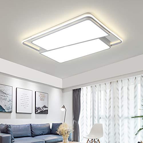 Tonhandisplay LED Deckenleuchte N8992-95x65x10 mit Fernbedienung Lichtfarbe/Helligkeit Innen einstellbar Rahmen 4500 Kelvin Kaltweiß A+ (N8992-95x65x10)
