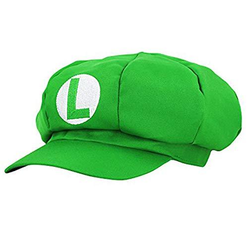 thematys Super Mario Luigi Mütze - Kostüm für Erwachsene & Kinder in 4 perfekt für Fasching, Karneval & Cosplay - Klassische Cappy Cap