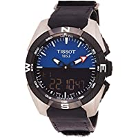 Tissot T-Touch Expert Solar Perpetual Alarm World Time Chronograph Quartz Analog-Digital Black Dial Men's Watch