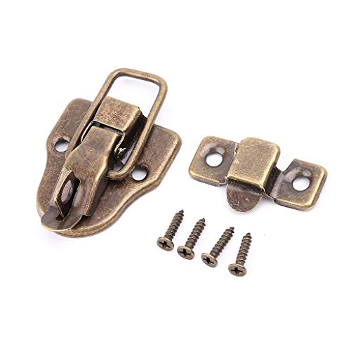 JENOR Vintage Toolbox Lock Antiguo Hebilla de Metal Maleta Caso de palanca Cerradura de Cerrojo de Cerrojo de Muebles Hardware