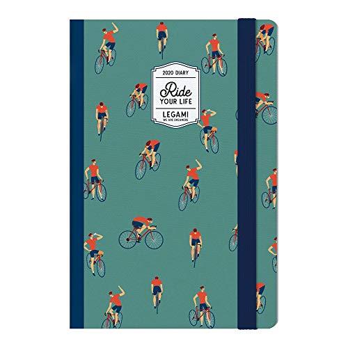 Legami Weekplanner 12 maanden met notebook – 2020 – AIR BALLOONS Medium Bike.