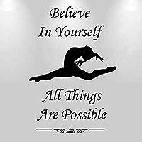 心に強く訴えるスローガン家の装飾ステッカー体操ダンス姿勢ビニールデカールダンススタジオヨガ装飾ステッカーで57X83Cm