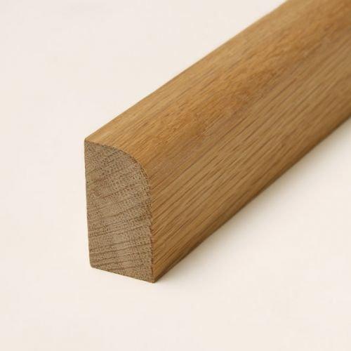30 lfm Sockelleiste Echtholz 35 x 15mm mit abgerundeter Vorderkante geölt