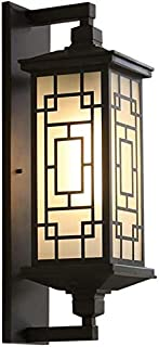 Contemporary Style Wall Light Chinese Rustic Wall Sconce Light Aluminum Glass E27 Outdoor Waterproof Wall Lamps Exterior C...