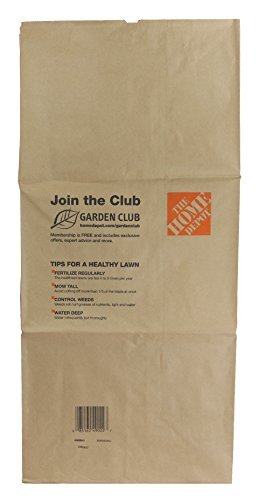 Home Depot Heavy Duty Brown Paper 30 Gallon Lawn and Refuse Bags for Home and Garden (70 Lawn Bags)