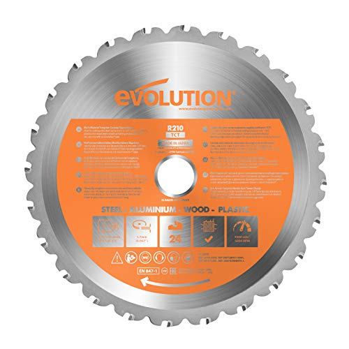 Evolution Power Tools - Hoja de sierra multiuso con punta de acero de carburo RAGE,...