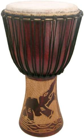 Hand-carved Djembe A surprise Bombing free shipping price is realized Drum From Africa - 11