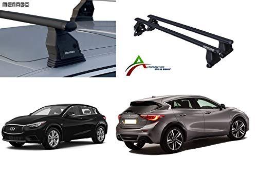 Imperiaal dakdrager dakbagagedrager voor personenauto's zonder rails, bevestigingssysteem Fix Point met imperiaal + bevestigingsset speciaal voor de auto