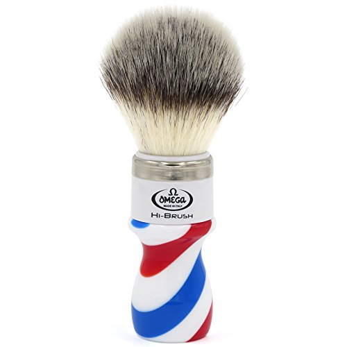 Omega 46806 - Pennello da barba in fibra'Hi-Brush'