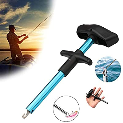VIPMOON Easy Fish Hook Remover Tool - Out Fish Hook Separator Tools Portable Easy Reach Aluminum Fishing Hooks Extractor Fast Decoupling No Injury