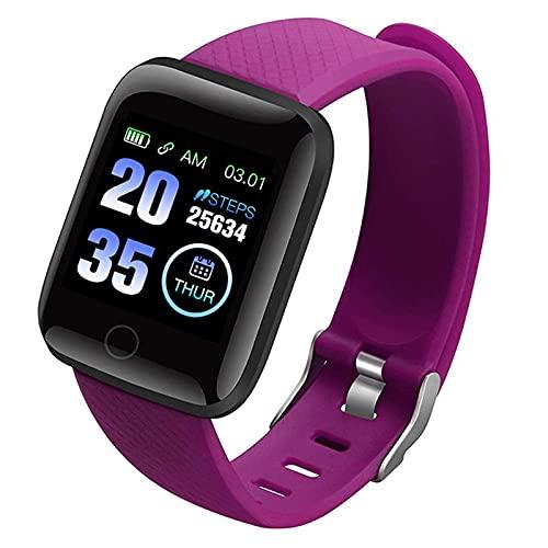 Qiujing 116 PLUS pantalla de color reloj inteligente ritmo cardíaco presión arterial impermeable fitness seguimiento reloj