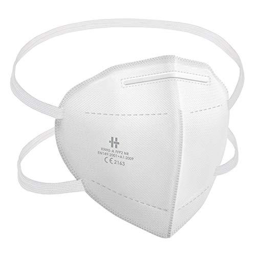 20 Stück FFP2 Maske Atemschutzmaske CE Zertifikat CE2163 geprüft EN149:2001+A1:2009 als FFP2 NR mit Kopfbänderung