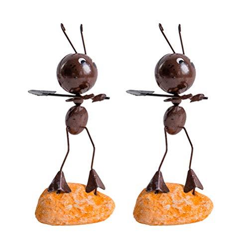 Garneck 2 Piezas Modelos de Hormigas de Metal Dibujos Animados Hierro Arte...