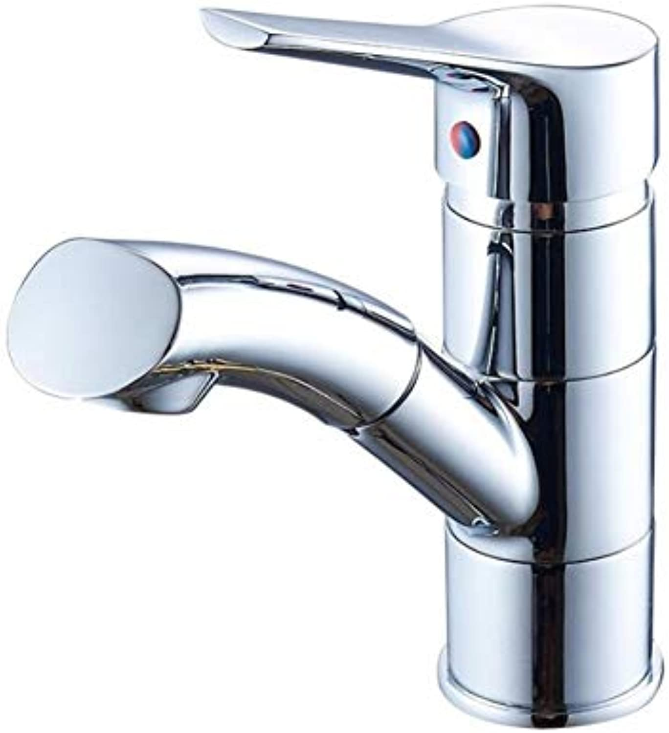Bathroom Sink Basin Lever Mixer Tap Copper Basin Pull Faucet Hot and Cold Kitchen Sink Faucet Can Be redated