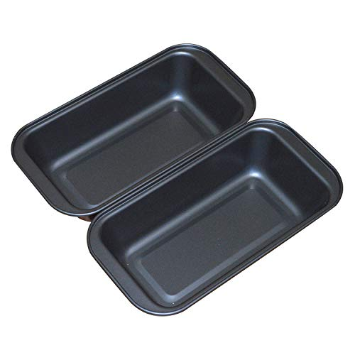 Nonstick Loaf Pan, 6.7 x 3.5 Inch Carbon Steel Toast Pan for Baking Bread with Oven, Gray set of 2