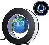 IREANJ Globe Explore el mundo Globo flotante magnético, levitación giratoria mapa del mundo con luces LED, levitación magnética globo flotante compatible con decoración en oficina y casa