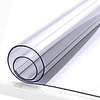 120 x 120cm、1.0mm,1.5mm,2.0mm,3.0mm厚のPVC防水テーブルプロテクターを覆う透明なプラスチック製のテーブルクロスは、ダイニングテーブルの掃除と拭き取りが簡単です(Color:3.0mm,Size:85*140cm)