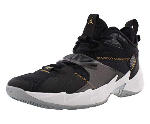 Nike Jordan Why Not Zer0.3, Zapatilla de Baloncesto Hombre, Negro Black Mtlc Gold White, 40.5 EU