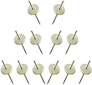 Nrpfell 50Pcs Heavy Duty Assorted One Step Hangers Iron Nail Hooks 20Lb Photo Picture Frame Hangers Professional Picture H...