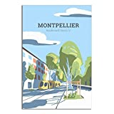 ASFGH Vintage Poster City of Montpellier Decor Painting