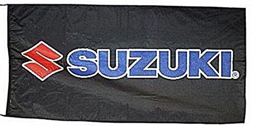 Flagge / Fahne Suzuki (Bild Mit Schwarzem Hintergrund) 1500mm x 900mm (of)